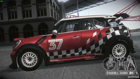 Mini Countryman WRC para GTA San Andreas esquerda vista