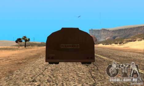 Reboque duelo Peterbilt para GTA San Andreas esquerda vista
