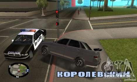 Corrida de rua para GTA San Andreas quinto tela