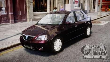 Dacia Logan 2007 Prestige 1.6 para GTA 4 esquerda vista