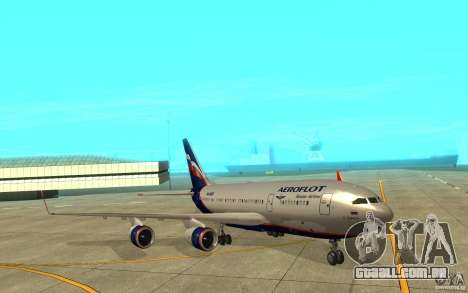 O IL-96-300 Aeroflot em novas cores para GTA San Andreas esquerda vista
