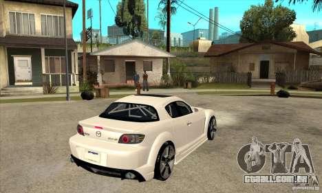 Mazda RX-8 v2 para GTA San Andreas vista direita