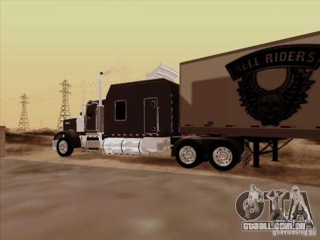 Kenworth W900 Long para GTA San Andreas vista interior