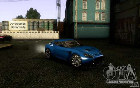 Aston Martin Zagato V12 V1.0 para GTA San Andreas vista traseira