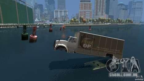 Benson boat para GTA 4 esquerda vista