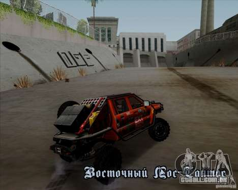 Nissan Navara Off-Road para GTA San Andreas vista interior