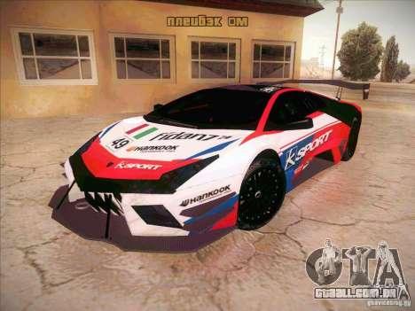 Lamborghini Reventon GT-R para GTA San Andreas vista traseira