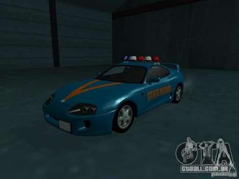 Toyota Supra California State Patrol para GTA San Andreas