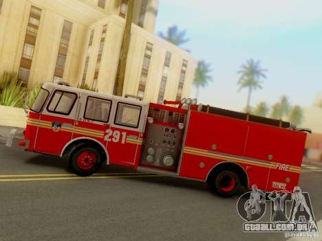 E-One FDNY Ladder 291 para GTA San Andreas vista traseira