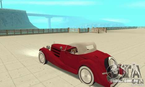 Mercedes-Benz 500K para GTA San Andreas vista traseira