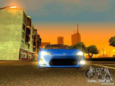 Toyota GT86 Limited para GTA San Andreas vista interior
