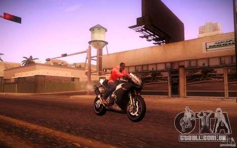Aprilia RSV-4 Black Edition para GTA San Andreas vista direita