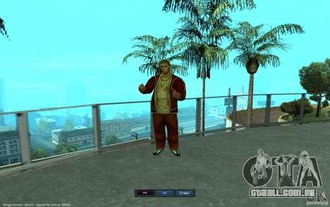 Crime Life Skin Pack para GTA San Andreas quinto tela