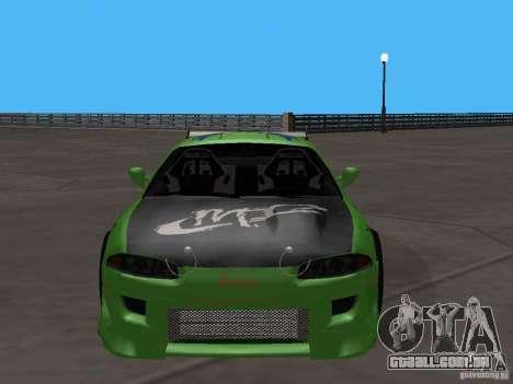 Mitsubishi Eclipse Tunable para GTA San Andreas traseira esquerda vista