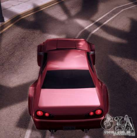 Elegy Wide Body para GTA San Andreas vista interior