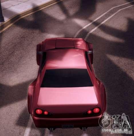 Elegy Wide Body para GTA San Andreas vista interior
