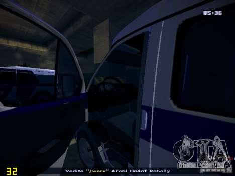 Polícia de gazela 2705 para GTA San Andreas vista traseira