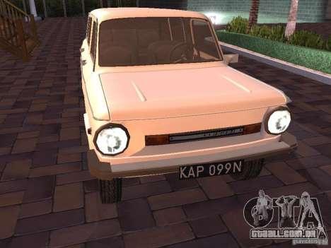 ZAZ 968M Limousine para GTA San Andreas esquerda vista