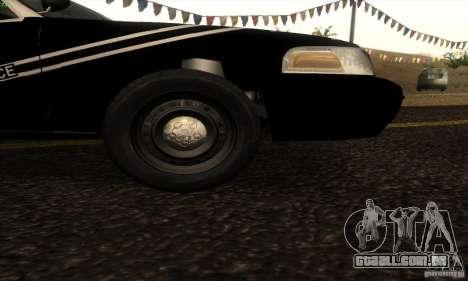 Ford Crown Victoria Idaho Police para GTA San Andreas traseira esquerda vista