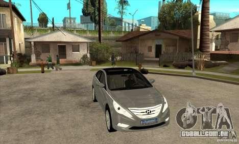 Hyundai Sonata 2011 para GTA San Andreas vista traseira
