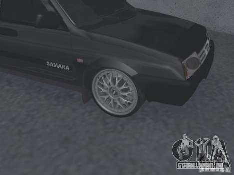 VAZ 2109 ajustáveis para GTA San Andreas traseira esquerda vista