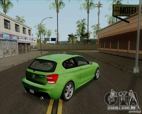 BMW M135i V1.0 2013 para GTA San Andreas traseira esquerda vista