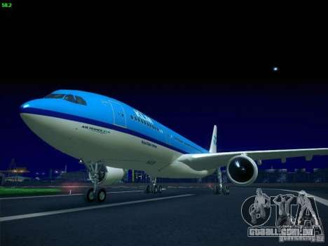 Airbus A330-200 KLM Royal Dutch Airlines para GTA San Andreas