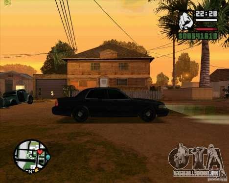 Ford Crown Victoria FBI para GTA San Andreas traseira esquerda vista