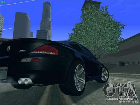 BMW M6 2010 Coupe para GTA San Andreas vista direita