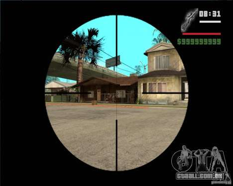 Rifle sniper para GTA San Andreas terceira tela