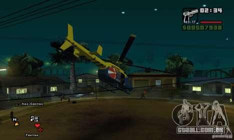 Helitour Maverick de GTA 4 para GTA San Andreas vista traseira