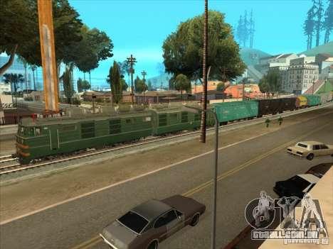 VL80K-548 para GTA San Andreas vista traseira