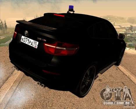 BMW X6 M E71 para GTA San Andreas esquerda vista