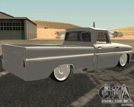 Chevrolet C10 1966 Low Gray para GTA San Andreas esquerda vista