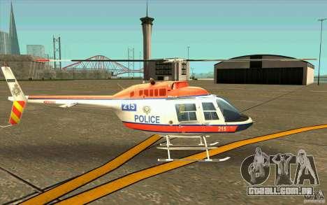 Bell 206 B Police texture2 para GTA San Andreas traseira esquerda vista
