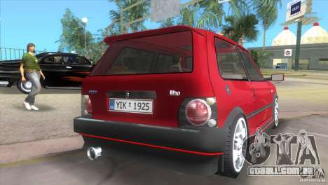 Fiat Uno Turbo para GTA Vice City deixou vista