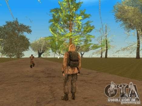 Cicatriz de pele de um stalker para GTA San Andreas sexta tela