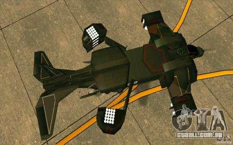 Aliens vs. Predator Marine Drobship para GTA San Andreas vista traseira