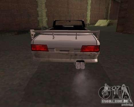 Táxi Cabriolet para GTA San Andreas traseira esquerda vista