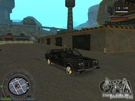 O novo Greenwood para GTA San Andreas esquerda vista
