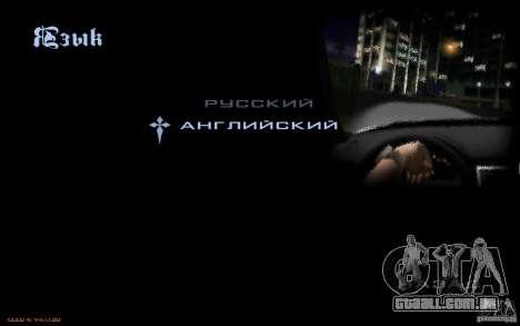 O menu do jogo GTA Nogaystan para GTA San Andreas sétima tela