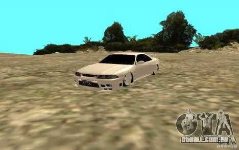 Nissan Skyline R33 para GTA San Andreas traseira esquerda vista