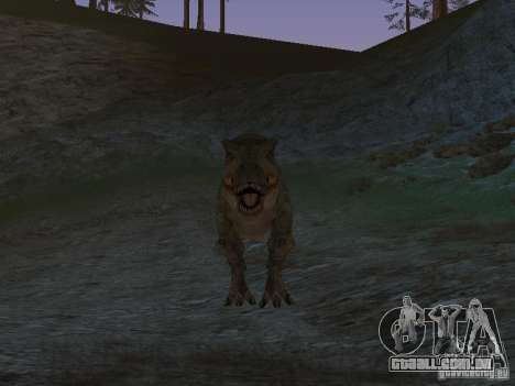 Dinosaurs Attack mod para GTA San Andreas sexta tela
