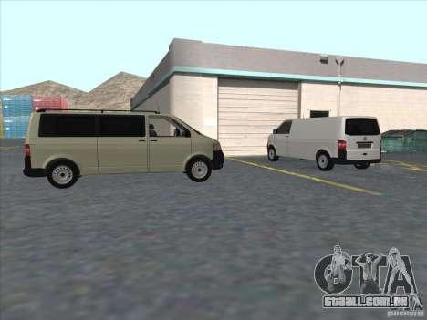VW Transporter T5 2.5 TDI long para GTA San Andreas vista traseira