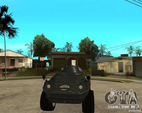 O APC de GTA IV para GTA San Andreas vista traseira