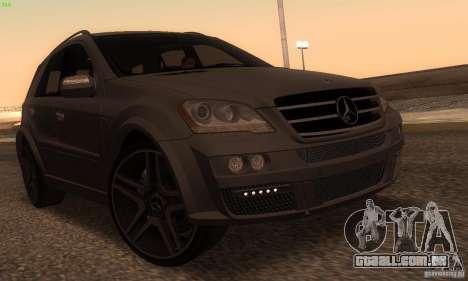 Mercedes-Benz ML63 AMG Brabus para GTA San Andreas esquerda vista
