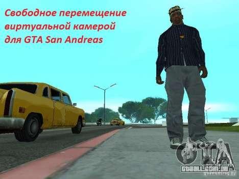 Câmera em movimento livre para GTA San Andreas