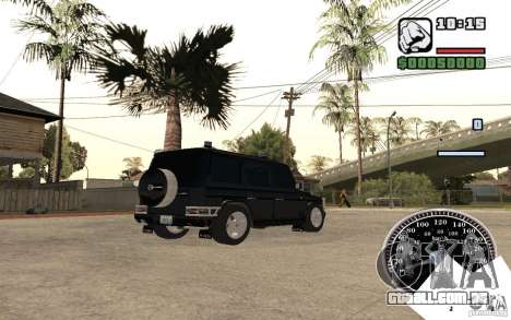 Mercedes-Benz G500 FBI para GTA San Andreas traseira esquerda vista