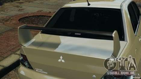 Mitsubishi Lancer Evolution VIII v1.0 para GTA 4 vista inferior
