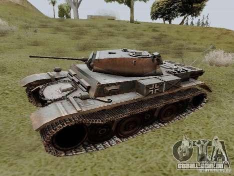 PzKpfw II Ausf.B para GTA San Andreas esquerda vista